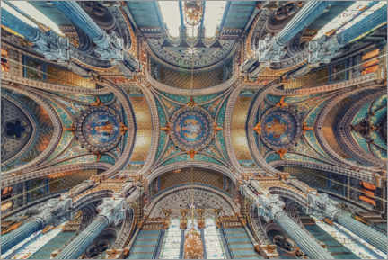Galleritryck  Notre-Dame of Fourviere Ceiling - Manjik Pictures