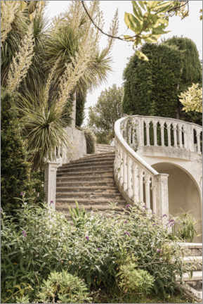 Premiumposter  French Vintage Garden Steps In The South Of France - Henrike Schenk