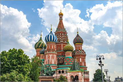 Canvastavla  St. Basil's Cathedral in Moscow III - HADYPHOTO