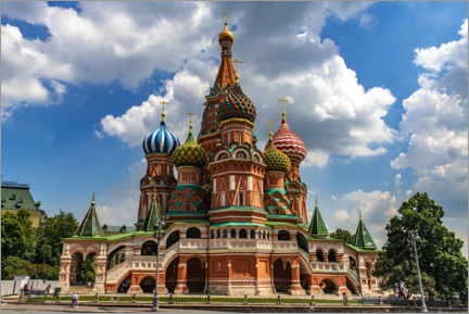 Canvastavla  St. Basil's Cathedral in Moscow II - HADYPHOTO
