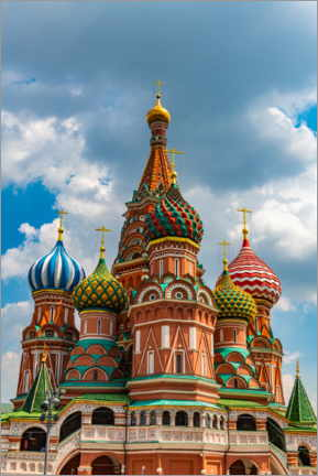 Canvastavla  St. Basil's Cathedral in Moscow 1 - HADYPHOTO