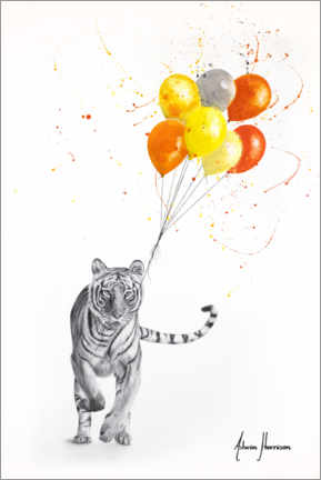 Premiumposter The Tiger and The Balloons