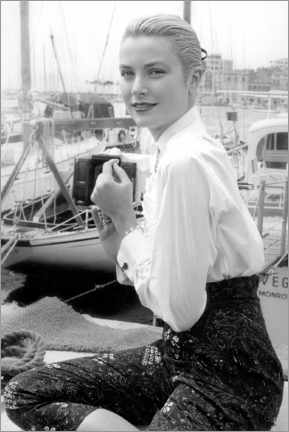 Canvastavla  Grace Kelly at Cannes Festival, 1955