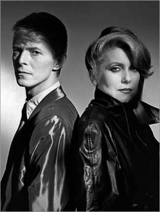 Canvastavla  David Bowie and Catherine Deneuve in 'The Hunger', 1983