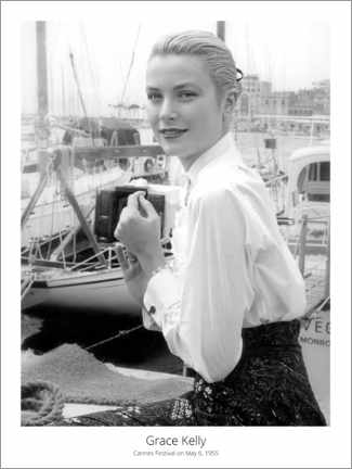 Canvastavla  Grace Kelly, Cannes Festival on May 6, 1955