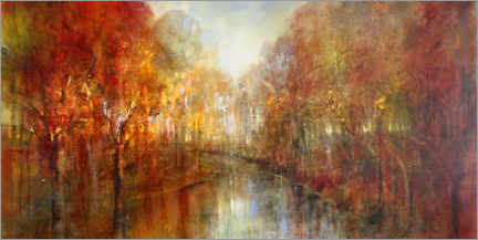 Trätavla  And the forests will echo with laughter - Annette Schmucker