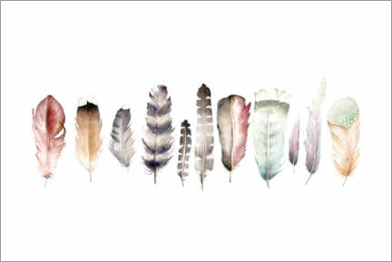 Premiumposter  Feathers - Wandering Laur