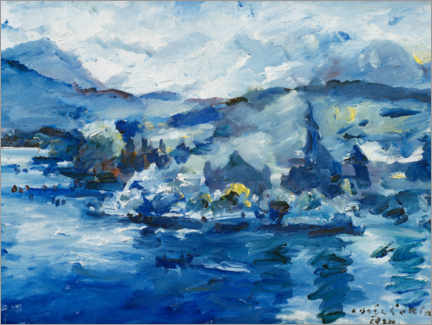 Canvastavla  Lake of Lucerne - Lovis Corinth