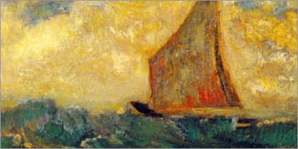 Galleritryck  The Mystical Boat - Odilon Redon
