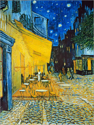 Premiumposter  Cafe Terrace at Place du Forum, Arles in the evening - Vincent van Gogh
