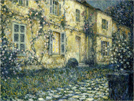 Premiumposter  The summer house - Henri Le Sidaner