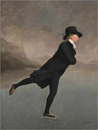 Canvastavla  Pastor Robert Walker ice skating - Henry Raeburn