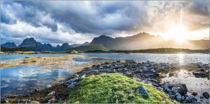 Premiumposter  Nordic Light - Lofoten Islands panorama - Sascha Kilmer