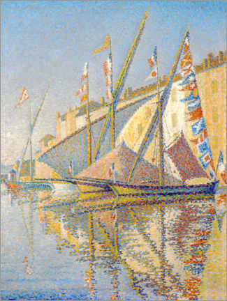 Premiumposter Sailing boats at the port of Saint Tropez