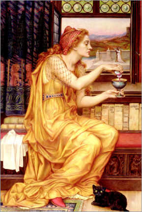 Canvastavla  The love potion - Evelyn De Morgan
