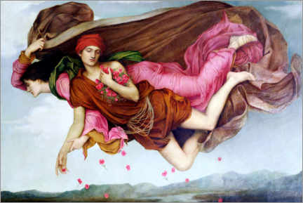Akrylglastavla  Night and sleep - Evelyn De Morgan