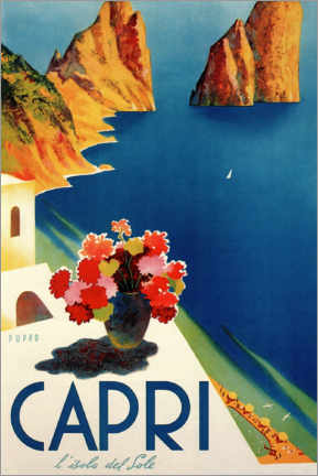 Självhäftande poster  Capri, l'isola del Sole - Travel Collection