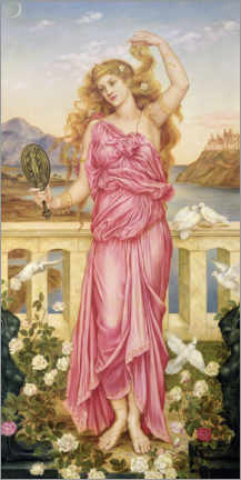 Canvastavla  Helena of Troy - Evelyn De Morgan