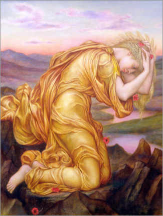 Galleritryck  Demeter mourns Persephone - Evelyn De Morgan