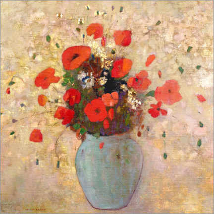 Premiumposter Vase of poppies