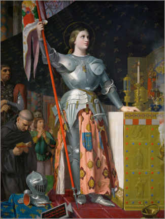 Premiumposter  Jeanne D'Arc at the coronation of Charles VII. - Jean Auguste Dominique Ingres