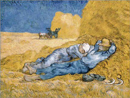 Trätavla  The siesta (after Millet) - Vincent van Gogh