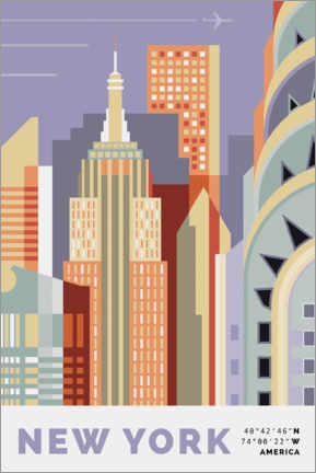 Canvastavla  new york skyline - Nigel Sandor