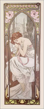 Canvastavla  Times of the Day - Night's Rest - Alfons Mucha