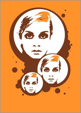 Galleritryck  Twiggy Mathmos Orange - JASMIN!