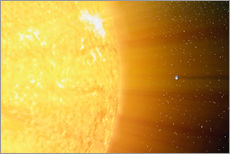 Galleritryck  The relative sizes of the Sun and the Earth