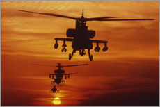 Galleritryck  AH-64 Apache anti-tank helicopters