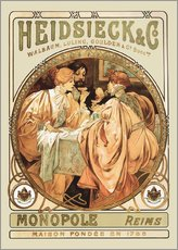 Galleritryck  Heidsieck & Co Champagne - Alfons Mucha