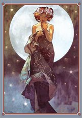Galleritryck  The full moon, adaptation - Alfons Mucha