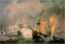 Canvastavla  The Battle of Navarino - Ivan Konstantinovich Aivazovsky