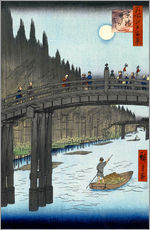 Galleritryck  Kyoto bridge by moonlight - Utagawa Hiroshige