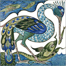 Galleritryck  Heron and Fish - Walter Crane