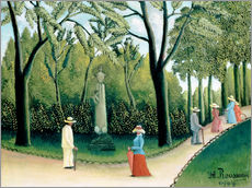 Självhäftande poster  The Monument to Chopin in the Luxembourg Gardens - Henri Rousseau