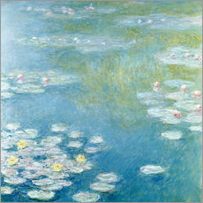 Självhäftande poster  Nympheas at Giverny - Claude Monet