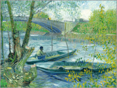 Premiumposter  Angler and boat at the Pont de Clichy - Vincent van Gogh