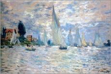 Canvastavla  The Boats Regatta at Argenteuil - Claude Monet