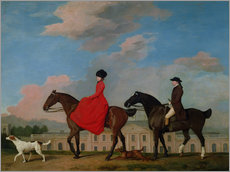 Galleritryck  John and Sophia Musters riding at Colwick Hall - George Stubbs