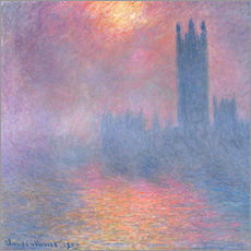 Självhäftande poster  The Houses of Parliament - Claude Monet