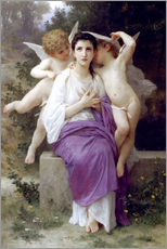 Självhäftande poster  The Heart's Awakening - William Adolphe Bouguereau