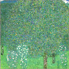 Canvastavla  Roses under trees - Gustav Klimt