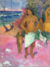 Trätavla  A Walk by the Sea - Paul Gauguin