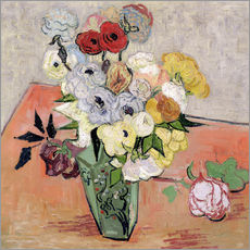 Galleritryck  Roses and Anemones - Vincent van Gogh