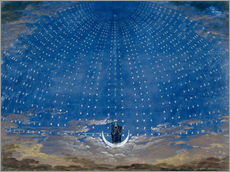 Självhäftande poster  The Hall of Stars in the Palace of the Queen of the Night - Karl Friedrich Schinkel