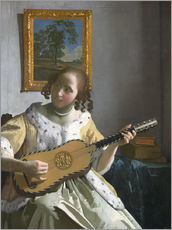 Galleritryck  Guitar player - Jan Vermeer
