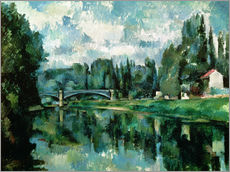 Självhäftande poster  The Banks of the Marne at Creteil - Paul Cézanne