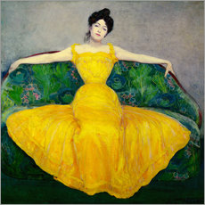 Självhäftande poster  Lady in a yellow dress - Maximilian Kurzweil